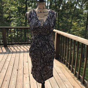 Iz Byer Brown and cream zebra dress size medium